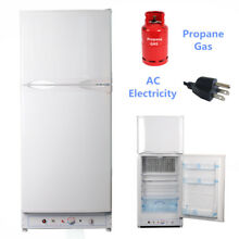 SMAD AC LPG Gas Refrigerator Freezer 110V Propane Gas Cabin RV Garage Off Grid
