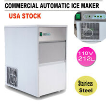 110V Built In Countertop Stainless Steel Cube Bullet Ice Maker Machine Automatic
