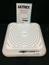 Ultrex Portable Induction Cooktop Model 07881 Ceramic Plate Exhaust Fan 6 Temps