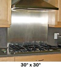 Stainless Steel Backsplash Panel Range Hood Wall Shield w  Hemmed Edges 30x30in