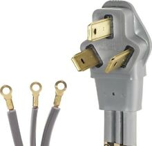 New  Lot of 6   Smart Choice 6  50 Amp 3 Wire Range Cord w Cord Clamp