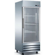 1 Single one Glass Door Commercial Stainless Steel Refrigerator CFD1G NSF