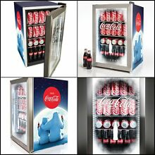 Nostalgia Coca Cola 80 Can Limited Edition Commercial Beverage Cooler glass door