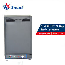 3 Way 1 4 CU FT Propane Refrigerator Fridge12V 110V LP Gas Camper RV Van Travel