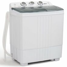 Della Small Compact Portable Washing Machine 11lbs Capacity w  Spin Dryer