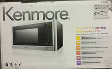 Kenmore 1 6 cu  ft  Countertop Microwave1100 Watts Stainless Steel 76983