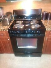 Black Whirlpool Kitchen Stove