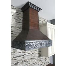 ZLINE 36  DESIGNER CARVED SOLID WOOD WALL RANGE HOOD CROWN MOLDING 373AW 36