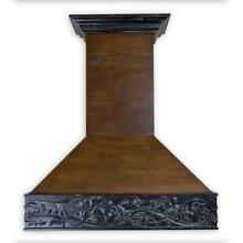ZLINE 42  DESIGNER CARVED WOOD WALL RANGE HOOD CROWN MOLDING 373AR 42