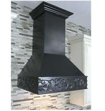 ZLINE 30  DESIGNER CARVED SOLID WOOD WALL RANGE HOOD LED 373AA 30