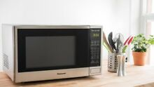 Microwave Oven Panasonic Stainless Steel 1100W   1 3 cu ft    for Countertop