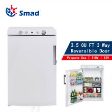 SMAD 3 5 CU FT Propane LP Gas Refrigerator Freezer 110V 12V Van Cottage RV Cabin