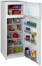 Two Door Apartment Size Refrigerator Kitchen Food Cooling Unit Freezer Fridge