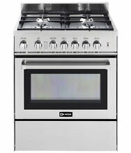 Verona VEFSGG304NSS 30  4 Burner Gas Range Single Oven Stainless Steel