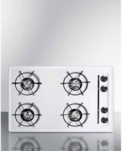 Summit WNL05P   Cooktop  Electric  4 Burners  Battery Start  White  20  X 30  X