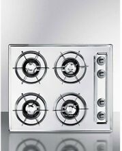 Summit ZNL03P   Cooktop  Electric  4 Burners  Battery Start  Brushed Chrome  X