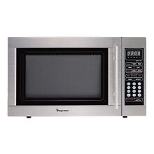 Magic Chef MCD1310ST 1000W 1 3 cu ft  Countertop Microwave Oven Stainless Steel