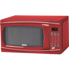 Digital Microwave Oven 1 1 Cu  Ft  Red Kitchen Countertop Warm Heat Cook Home