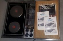 Jenn Air downdraft stainless Cooktop with Paperwork and Euro Glass Cartridges