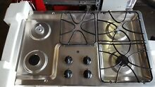 GE PROFILE 36  STAINLESS 4 BURNER GAS COOKTOP JGP628SEJ1SS   new missing parts