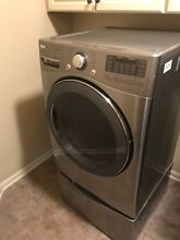 LG Graphite Steel Front Load Gas Dryer  Barely used