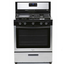 Whirlpool 3LWF7550S 30  Stainless Steel Gas Stove 220 240 Volts 50Hz Export Only