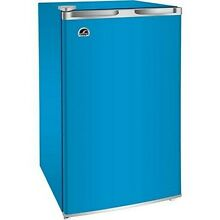Mini Refrigerator Freezer Fridge Ice Maker Cooler Cans Bottles Patio Dorm Blue