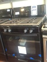 Whirlpool 4 Burner Black Gas 30 in Stove With Warranty WFG320M0BS0