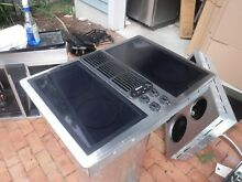 Jenn air downdraft cooktop stainless with black galss burners and grill unit