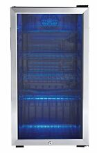 Mini Refrigerator Dorm Beverage Wine Cooler Stainless Steel Good Energy LED Rack