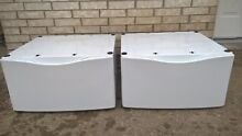 WHIRLPOOL  2 White Pedestal With Storage For Washing Machine and Dryer