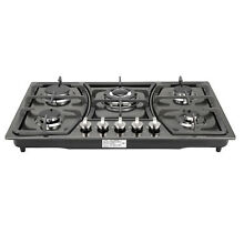 METAWELL 30  Titanium Steel 5 Burners Cooktops Built In Stove LPG NG Gas Hob
