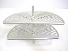 Vintage 1958 General Electric Refrigerator Aluminum Rotating Adjustable Shelves