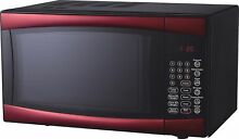 RCA Microwave Oven RMW964 Red 0 9 Cubic Foot Microwave Defrost Cook Touchpad New