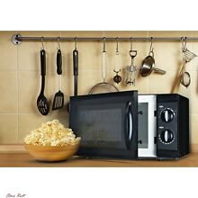 Compact Microwave Oven Rotary Countertop Home Kitchen 0 6 Cubic Feet Black New
