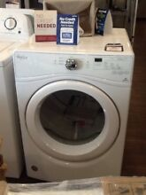 New White Whirlpool Gas Frontload Dryer With Warranty WGD75HEFW0