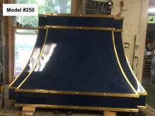 Blue Range Hood for La Cornue  Fan Incl  Custom Sizes  All Metals   Model  250