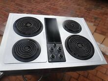 Ge stainless downdraft cooktop with grill unit