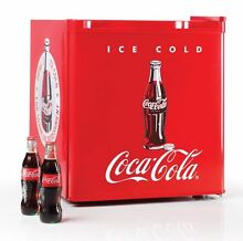 Retro Refrigerator Freezer Fridge Compact Mini Coke Workshop Office Dorm Bar