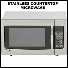 Countertop Microwave in Stainless Steel 1 6 cuft  Small Appliance Apartment Dorm