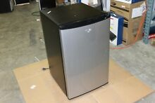 Whirlpool 4 3 cu  ft  Mini Stainless Steel Refrigerator Fridge Compact