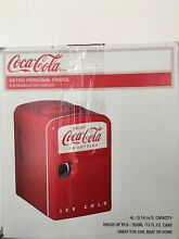 Coca Cola Retro Mini Refrigerator  Personal Fridge Car Home Boat New in box