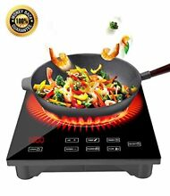 Portable Induction Cooktop w Ceramic Glass Plate Countertop Burner w LED Display