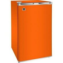 Mini Refrigerator Freezer Fridge Ice Maker Cooler Cans Bottles Patio Dorm Orange
