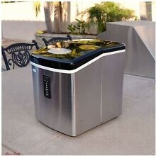 Portable Ice Maker Machine Cube Outdoor Countertop Stainless Steel Home Patio