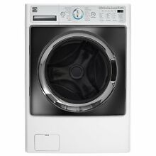 Large Front Load Combination Washer Dryer Steam Washing Machine 4 5cu  ft  White