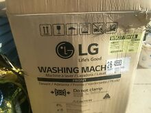 LG turbowash 4 5 cu  ft 12 cycle front load w steam graphite steel new in box