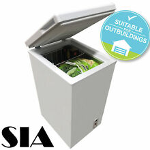 SIA CFR60WH Chest Freezer In White   67 Litres Capacity   A  Energy Rating
