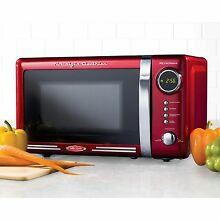 Red Nostalgic Microwave Oven Retro Series College Home Electrics Cooking Gift