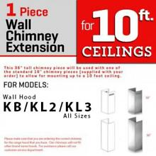ZLINE WALL Chimney Extension OUTDOOR MODEL 1 PIECE KB  KL2  KL3 304  1PCEXT